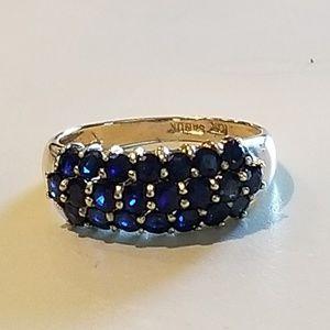 14k Yellow Gold Natural Sapphire Ring sz 7